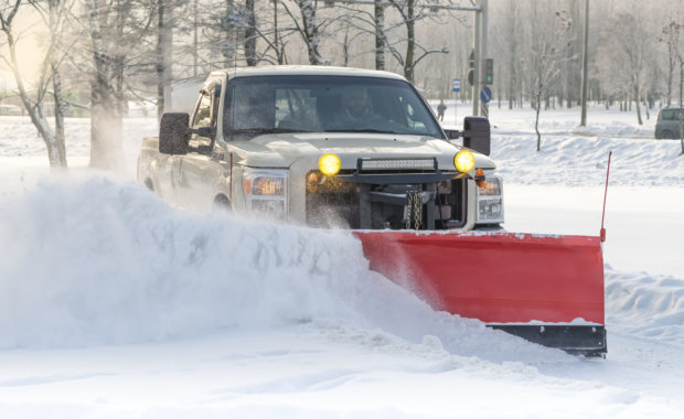 Snow Plow During Winter